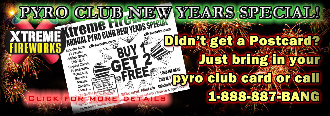 3 for 1 New Years Pyro Sale!