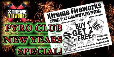 3 for 1 New Years Pyro Sale!!